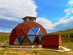 Transform a Geodesic Dome into a cozy home, restaurant or concert hall Geodesic Sphere, Geodesic Dome Homes, Concrete Cost, Online Home Design, Shell Structure, Green Dome, Eco Buildings, Home Design Magazines, Arquitetura