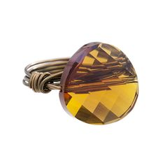 Twist and Shout Ring, Topaz, Size 7