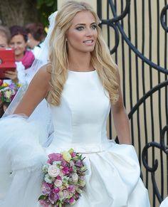 Miss Polonia 2010 Rozalia Mancewicz on her wedding day #Polish_women #Poland #Rozalia_Mancewicz