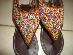 Women's Maasai Sandals by KarangisCollections on Etsy, $58.99