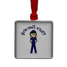 Light Police Officer Girl Ornament