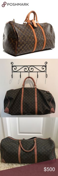 VINTAGE Louis Vuitton Duffle Bag RARE and VINTAGE Louis Vuitton Duffle Bag! Bag has some signs of wear but adds to the vintage, distressed look! Note that price reflects the wear! Louis Vuitton Bags Travel Bags