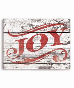 Love this Red 'Joy' Wall Sign on #zulily! #zulilyfinds