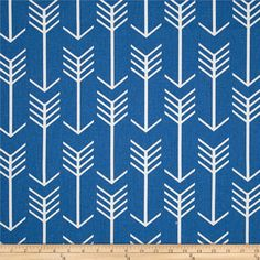 Premier Prints Arrow Cobalt from @fabricdotcom  Screen printed on cotton duck; this versatile medium weight fabric is perfect for window accents (draperies, valances, curtains and swags), accent pillows, duvet covers and upholstery. Create handbags, tote bags, aprons and more. *Use cold water and mild detergent (Woolite). Drying is NOT recommended - Air Dry Only - Do not Dry Clean. Colors include blue and white.