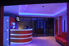 Blue and white LED strip light can create this amazing atmosphere