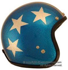 Retro Captain America helmet by brand Retro Motorcycle Helmets, Retro Helmet, Vintage Helmet, Vintage Racing, Scooter Helmet, Bicycle Helmet, Captain America Helmet, Kawasaki Vulcan S, Frases