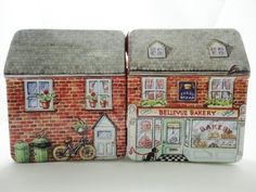Dollhouse Miniature Box Tiny Mini Doll House Printed Bakery Model Kit Gift~~