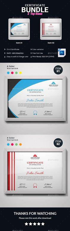 Certificate Template PSD Bundle