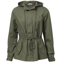 Women's Hooded Parka ($19) ❤ liked on Polyvore featuring outerwear, coats, jackets, coats & jackets, outerware, lined parka, fur-lined coats, cotton parka, hooded parka coat and hooded parka