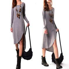 Long long dress Q3116 por idea2lifestyle en Etsy