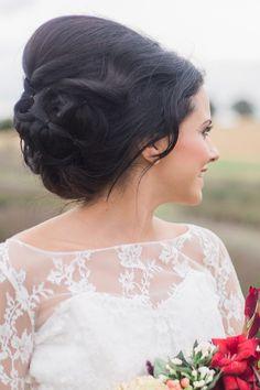 Bridal Up-Do Hairstyle | Anneka Photography | Bridal Musings Wedding Blog