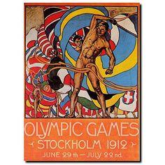 Olle Hjortzberg 'Olympic Games Stockholm 1912' Canvas Art