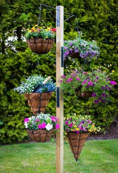Hanging basket tower