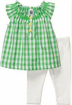 NWT-Newborn-Carters-Tunic-Shirt-Leggings-Baby-Girl-Green-White