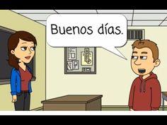 Spanish Lesson Greetings (original) in 2018 Spanish Lessons For Kids, Spanish Basics, Spanish Lesson Plans, Spanish Activities, French Lessons, Spanish Teacher, Spanish Classroom, Teaching Spanish, Teaching French