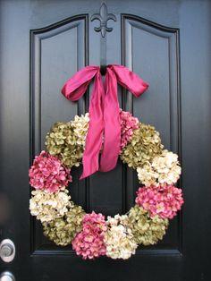 Hydrangea Wreath 4 Spring.