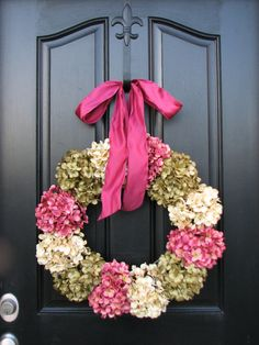 Hydrangea Wreath Spring Wreaths Online Wreath by twoinspireyou, $105.00