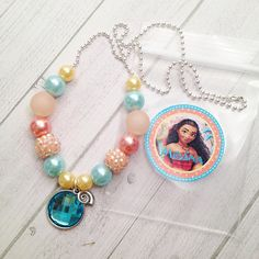 8 Moana Necklace Party Favors Moana Birthday Party Activity Te Fiti Necklace Party Favor Moana Birthday Tahitian Beach Party Favor Luau