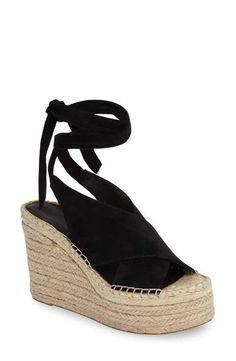 313ccd79f83c Marc Fisher LTD Andira Platform Wedge Sandal (Women) Black Wedge Sandals