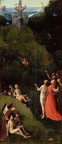 Jérôme Bosch : Visions de l'au-delà: Le Paradis, 1500-1503, bois, Palais des Doges, Venise.