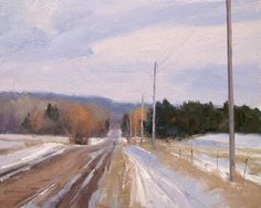 155th Ave Afternoon by Marc Hanson Oil ~ 8 x 10