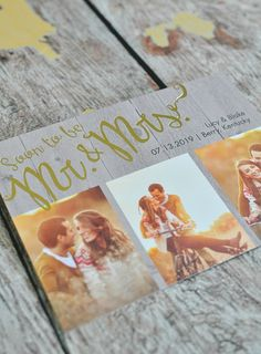 Rustic Gold Stamping Save the Date, wedding invitations with pictures, spring fall wedding photos Wedding Invitations With Pictures, Wedding Invitations Online, Save The Date Invitations, Rustic Invitations, Wedding Invitation Wording, Wedding Stationery, Wedding Pictures, Foil Save The Dates, Rustic Save The Dates