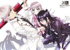 Silver Clan, Hakumai-tou. Isana Yashiro, Neko and Yatogami Kuroh. | K: Return of Kings