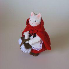 縮緬福猫 赤ずきん その一