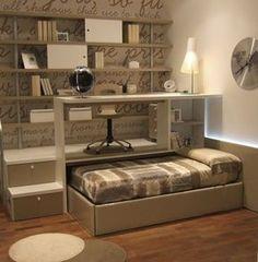 20 fantastiche soluzioni per un letto salvaspazio a scomparsa! Lasciatevi ispirare…