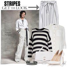 Striped Top, Striped Bottom