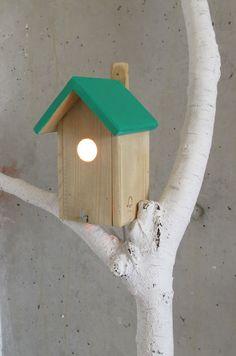 BIRD HOUSE LAMP van LesPapillonsdeNuit op Etsy