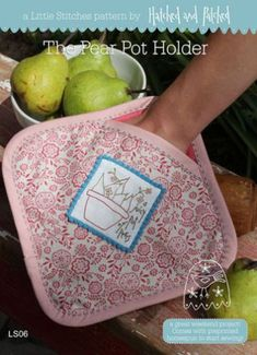 Pear Pot Holder | Hatched and Patched
