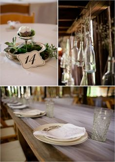 rustic barn reception decor