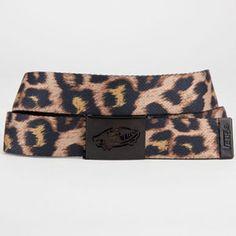 VANS Reversible Web Belt #cheetah #animal #belt #vans #print #reversible