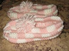 Ravelry: Checkerboard Slippers pattern by Denise Levs