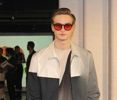 Men's spring fashion trends 2014. Rounded sunglasses with coloured shades at the Jonathan Saunders presentation