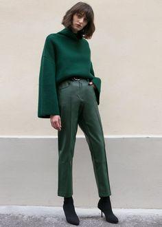 Green Vegan Leather Pants – The Frankie Shop
