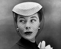 Bettina Graziani modeling, 1954.  Photograph by Georges Dambier.