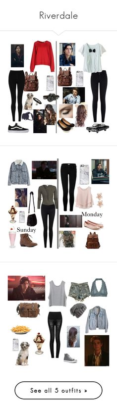 """Riverdale"" by stilesmccall35 ❤ liked on Polyvore featuring Vans, FOSSIL, M&S Collection, SUN68, New Look, Accessorize, Bottega Veneta, NLY Trend, Forever 21 and Nomadic"
