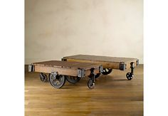 restoration hardware factory cart tables. WANT.