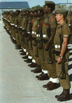 101 Battalion on parade at Main Base - Ondangwa