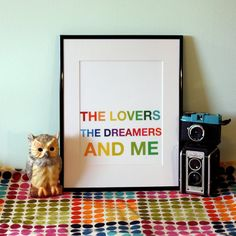 The Lovers The Dreamers and Me Custom 8x10 Art Print by CAPow, $15.00