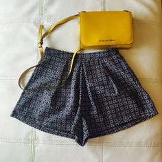 Chic Shorts by LUSH. ☀️ 100% Polyester. Comfortable and zipper on the left side. See last picture for pattern. Let me know if you have any questions.  Lush Shorts