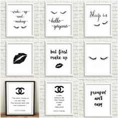 CHANEL bedroom wall decor CHANEL wall art Coco by GrafikShop
