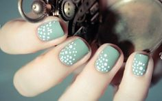 Tiny Dots | Bridal Manicure  Top 14 Wedding Bridal Manicure Ideas
