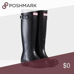 WANTED!!! Black tall hunter rain boots. WANTED!!! Black or navy tall hunter rain boots. Size 8. Please share any you find with me. Thanks! Hunter Boots Other