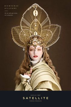 This woman's face lowkey looks like Jungkook ngl Fantasy Photography, Fantasy Costumes, French Photographers, Fashion Mode, Headgear, Headdress, Costume Design, Body Painting, Wearable Art