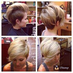 Fun one today! #hair #haircut #hairstyle #hairstylist #shorthair #shorthaircut #shorthairstyle #pixie #pixiehaircut #pixiehairstyle #blonde #blondehair #thecutlife #modernsalon #thisismyart - @dillahajhair- #webstagram