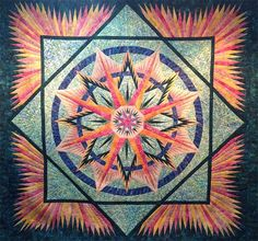 Mariner's Compass, Quiltworx.com, Made by Janet Strong.