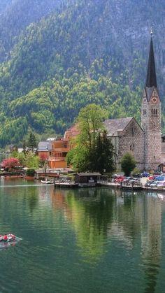Hallstatt, Austria • photo:  danjeffayelles on Flickr